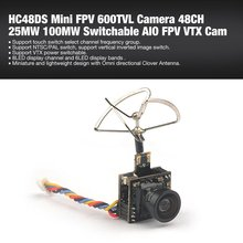 цена на Mini 5.8G Photography Camera Output Power 48CH 25MW 100MW Switchable Camera AIO FPV VTX HC48DS Camera for Indoor FPV Accessories