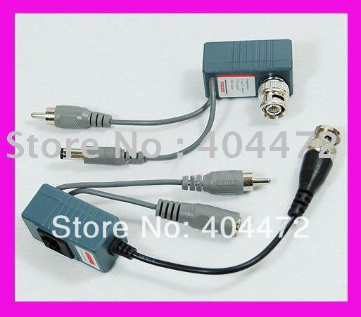 10 pair CCTV Camera Video Audio Balun Transceiver BNC UTP RJ45 Video Balun Video and Power over CAT5/5E/6 Cable