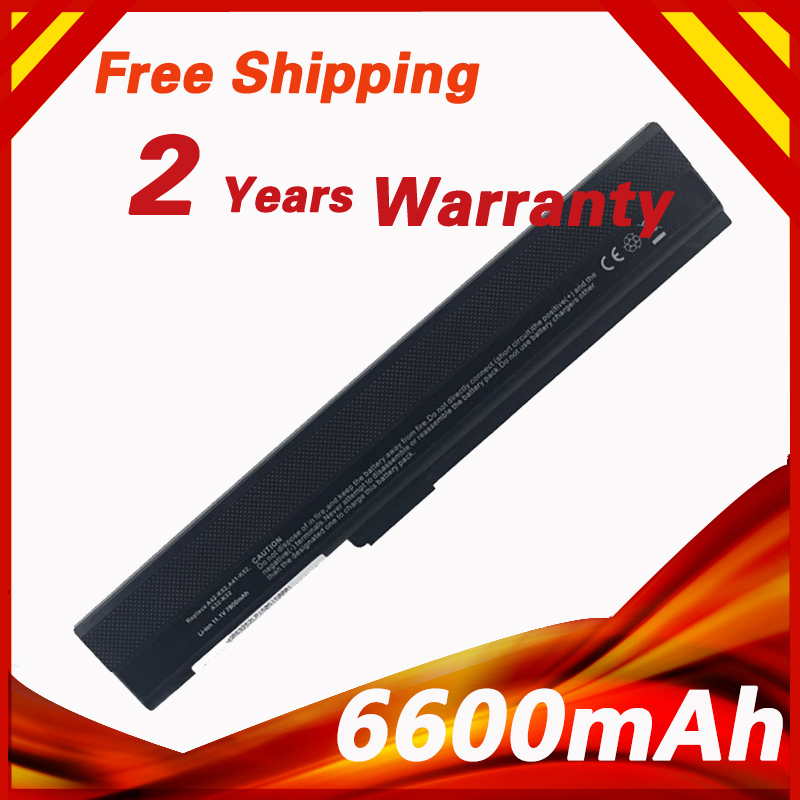 Laptop Battery For ASUS A31-B53 A32-K52 A42-K52 A31-K52 A41-K52 K52L681 K52J K52JB A42 A52 A42D A52JB A62 K42 K52 K52D K52JC