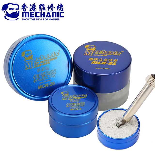 MECHANIC Soldering Tip Refresher Clean Paste for Oxide Solder Iron Tip Head Resurrection Cream Soldering Accessory