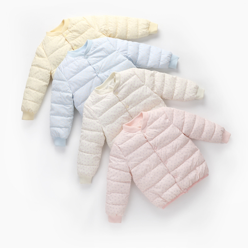 fashion cute winter Kids Waistcoats baby boys girls jacket down clothing sweet coat Candy-colored Outwear
