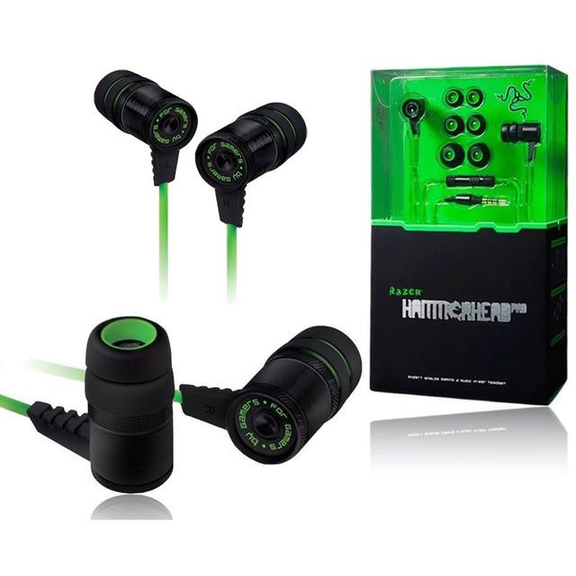 Oem razer hammerhead pro aislamiento de ruido estéreo bass en la oreja los auriculares con micrófono auriculares para juegos