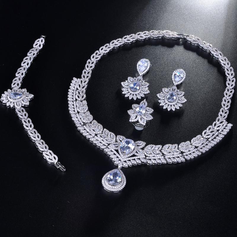 Be 8 2018 Новый Модный комплект ювелирных изделий в Дубае белого