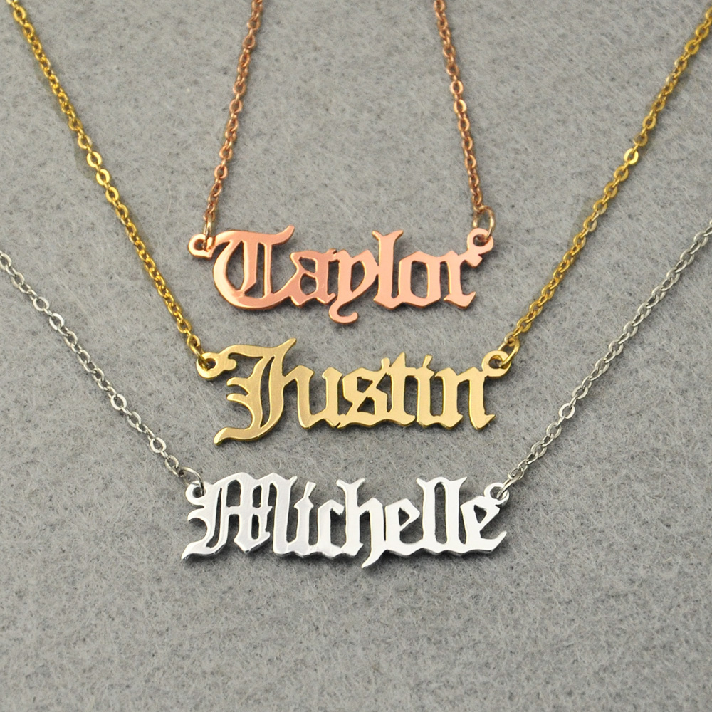 Personalized Name Necklace Jewes