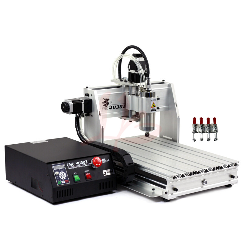 3D CNC milling and drilling machine 30*40 laptop with USB Port 800W watercooling spindle with ball screw metal engraving