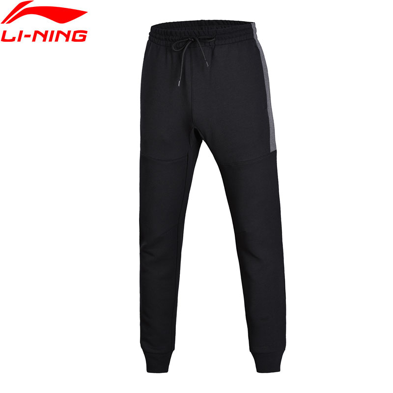Li-Ning Men Wade Sweat Pants Trousers Regular Fit Comfort 3D Fitting LiNing Sports Pants AKLN017 MKY351 airgracias elasticity jeans men high quality brand denim cotton biker jean regular fit pants trousers size 28 42 black blue