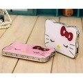Очень Милые Стразами Ультра-тонкий кристалл Hello Kitty Лица 8000 мАч Power Bank Универсальная Внешняя Батарея Портативное Зарядное Устройство Для Мобильного