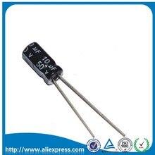 Алюминиевый электролитический конденсатор 50 в 10 мкФ 50 В/10 мкФ, размер 5*11 мм, 50 шт.