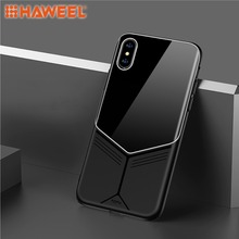 HAWEEL Phone Case for iPhone X / XS/ XR XS Max TPU + PC Glass Protective Cover Shell Guard