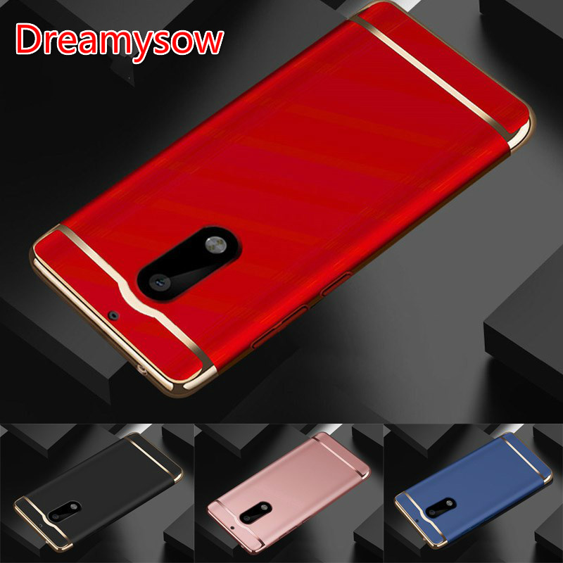 Dreamysow For Nokia 6 2017 Removable 3 in 1 Hard Plastic Case For Nokia6 TA-1000 Cover PC Plating Matte Cover 5.5 inch Skin Case