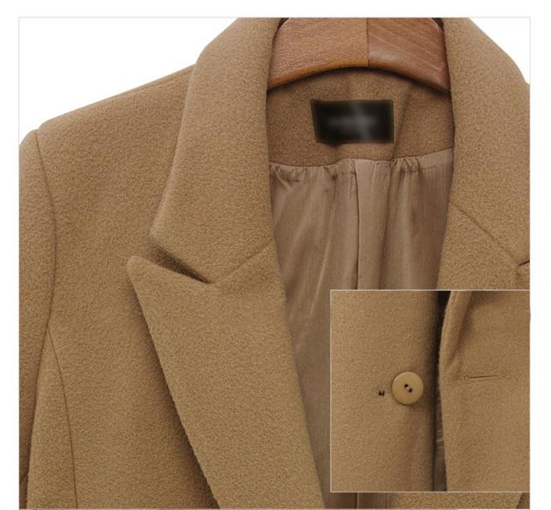 2016 European Women Autumn Winter Coat High Quality Woolen Coat Solid Color Elegant Casual Wool Big Yards Coat Plus Size 5XL (18)