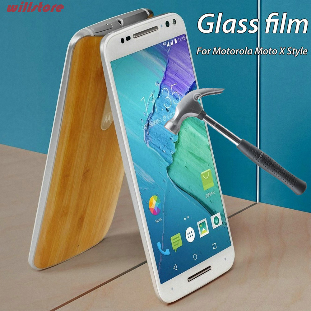 Tempered Glass Screen Protector film BAG For Motorola Moto E E2 X X2 G G2 G3 2nd 3rd Gen G4 plus X Style Play 2015 Dual SIM