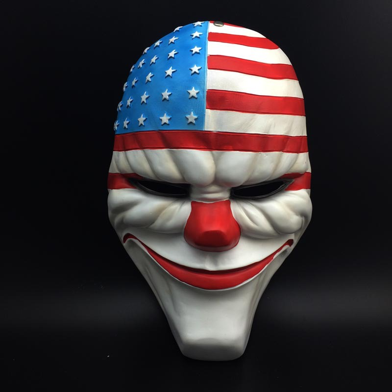 Scary Mask Cosplay Payday 2 Resin Mask Top Grade Resin Clown Valuable ...