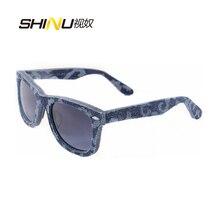 Top New Fashion Brand Designer Sunglasses Cool Mens Women Polarized Denim & Acetate Limination Summer Style Glasses