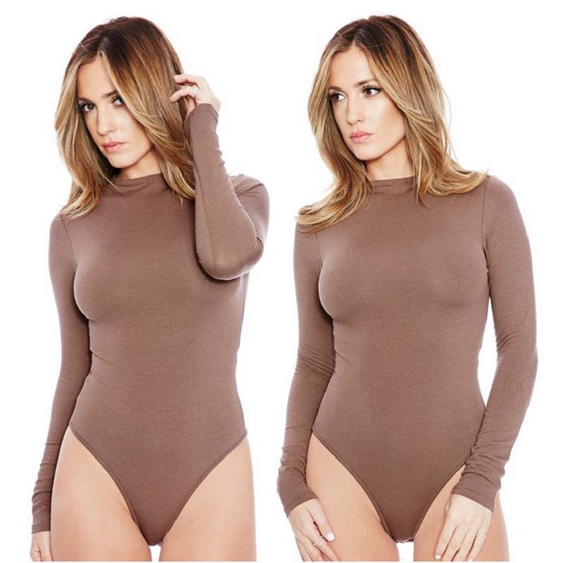 13 Colors Cheap One Piece Bodysuits Women Long Sleeve Autumn Basic ... ea1f9e1ff