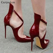 Hot Sale font b Women b font Buckle Strap High Heel Pointed Toe Pumps Female Fashion