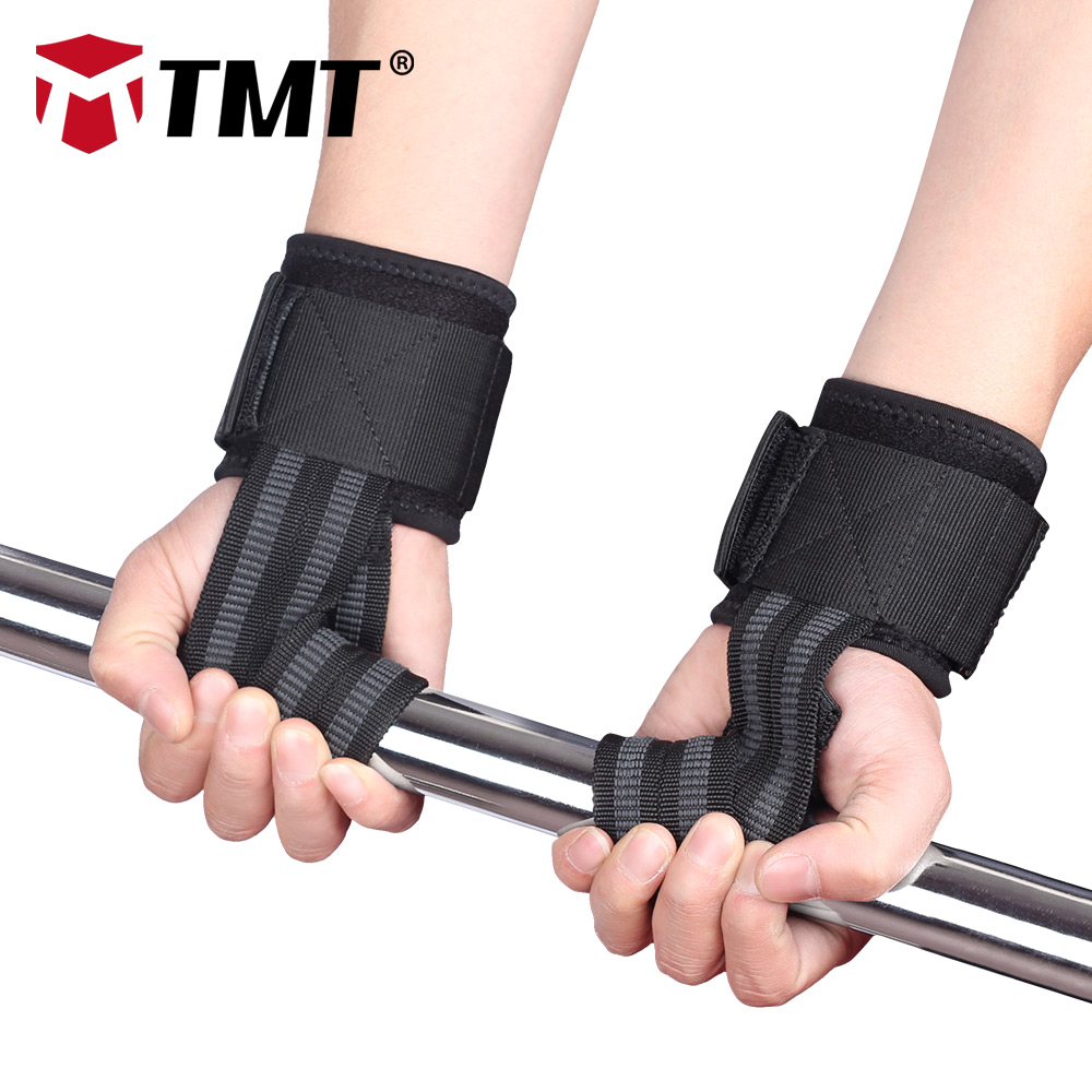TMT Antislip Bandage Metal hasp Breathable rhombic matrix cloth Fitness Dumbbells Training Wrist Thumb Support Straps Protection