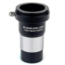 """عدسة Datyson 1.25 """"2x Barlow معدنية متعددة المغلفة بالكامل مع M42x0.75 واجهة توصيل الكاميرا للعدسة التليسكوبية"""