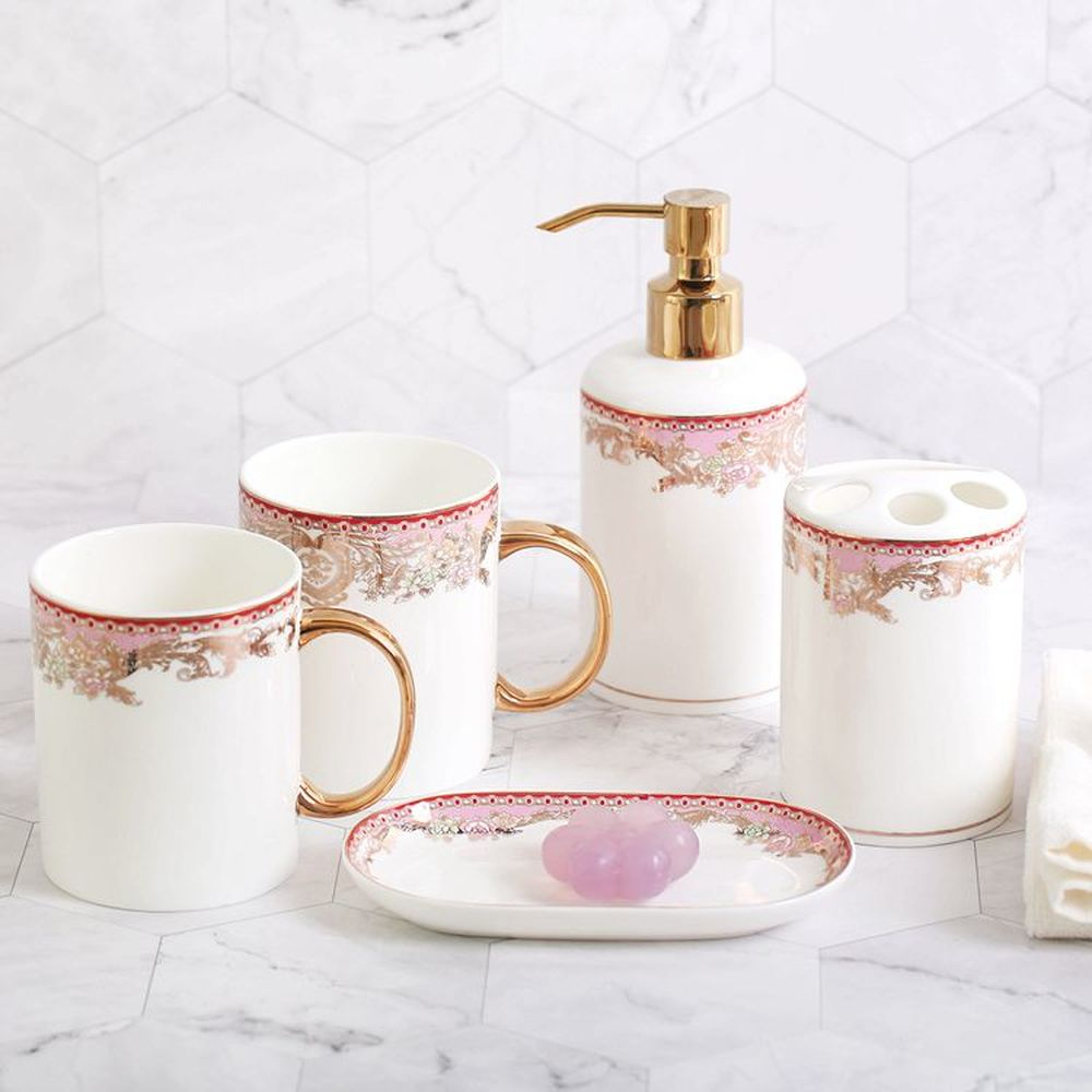 Fashion luxury ceramic bathroom creative toothbrush wash set bathroom brushing supplies mouth cup wedding gift LO725436 simple bathroom ceramic wash four piece suit cosmetics supply brush cup set gift lo861050