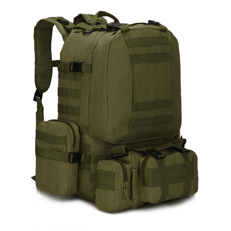55L Molle Military Tactical Backpack for Camping Fishing Rucksack Hiking Hunting Climbing Camouflage Mountaineering Bags 600D