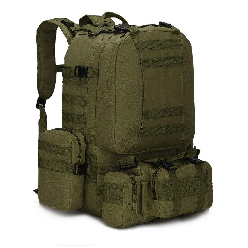 55L Molle militaire tactique sac à dos pour pêche sac à dos Camping randonnée chasse escalade Camouflage alpinisme sacs 600D