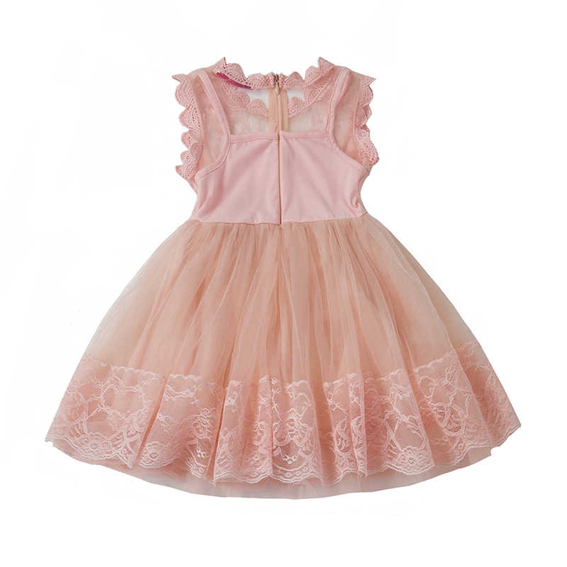 Новые 2018 летние-подростков платье для девочек для Формальное вечернее Пром Младенческая Детская одежда 2 года подростков Платье-пачка для дня рожденья мяч носить