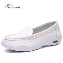 Hosteven Women Shoes Sneaker Moccasins Casual Loafers Flats Leather Nurse Spring Autumn Female Ladies Footware
