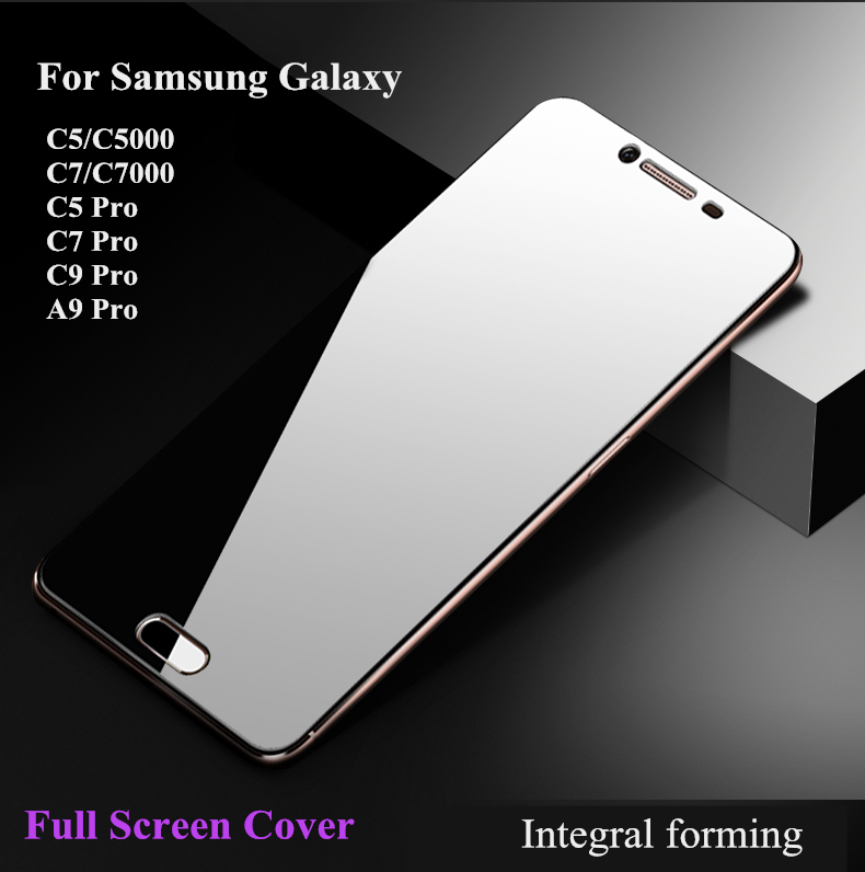 4228a3bb06d6df Full Cover Tempered Glass For Samsung Galaxy C5 C5 Pro C7 C7Pro C9 A9 Pro  2.5D 9H Glass Screen Protector for C5 C7 C9 Pro