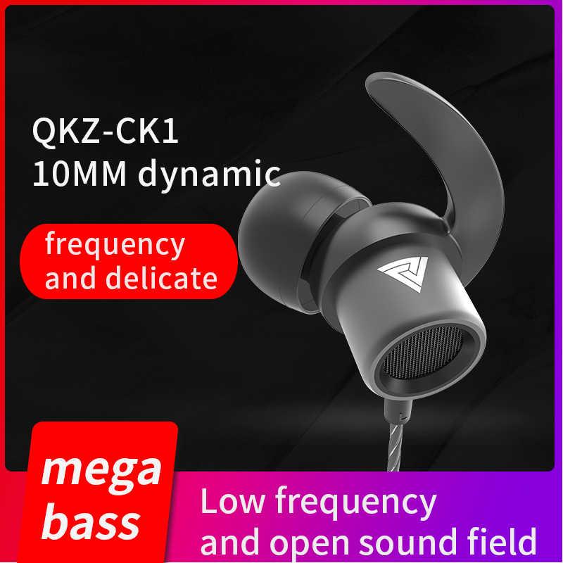 QKZ CK1 سماعات للهاتف MP3 mp4 عزل الضوضاء ستيريو الرياضة في الأذن سماعات ياربود دي ouvido السمعية