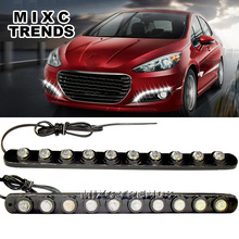 2x 12v Super Bright Flexible Daytime Running Light Rubber base bendable COB Lamp ultralow power consumption Driving led DRL