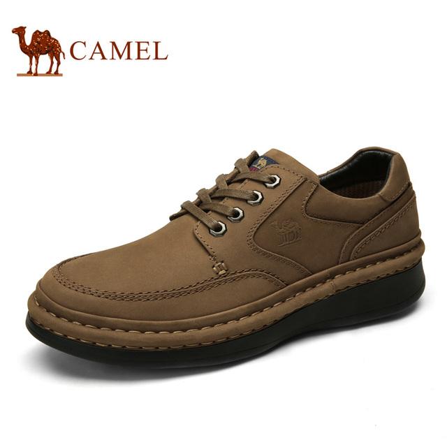 De camello hombres zapatos 2016 nuevos zapatos de cuero mate ocasionales cómodos, high-rise antideslizante zapatos