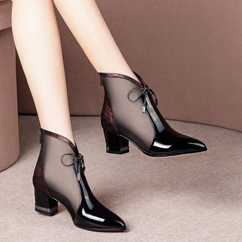 Sexy ankles fashion women heels shoes toe round 2019 new ladies party sexy med