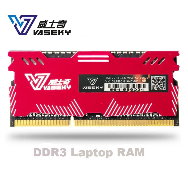 Vaseky 4GB 8GB 4G 8G Laptop Notebook Memory RAM Memoria Module Computer  PC3 DDR3 12800S 12800 1600MHZ 1600 MHZ RAM