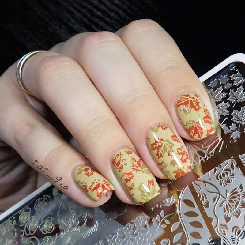NACIDO PRETTY Placas de Estampación de Uñas Flor de Encaje Patrón - Arte de uñas - foto 5