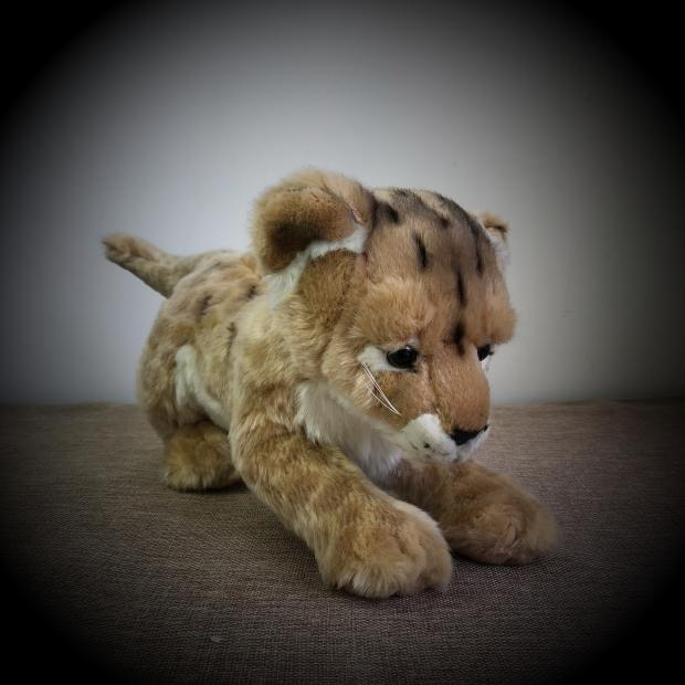 Original Cute Africa Lion Panthera leo Simulative Animal Soft Stuffed Plush Toy Doll Birthday Gift Children Baby Girl Gift