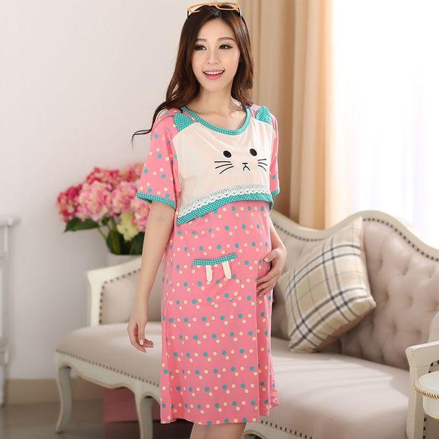 Roupas de maternidade maternidade ocasional vestido de algodão roupas plus size ledies stripe vestidos Grávidas vestido