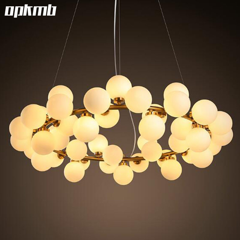 New Arrival  Round glass bubble ball LED Chandelier Light  Modern lustr Ball Lamp Fixture  25 lamp 45 lightings  free 45 head nordic creative circle dia 95cm led chandelier light round bubble glass lampshade villa g4 lamp 3w ac220v free shipping