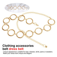 New Fashion Metal Waist Chain Belt Women Circle String Belts For Ladies Dresses Decoration Gold Plated