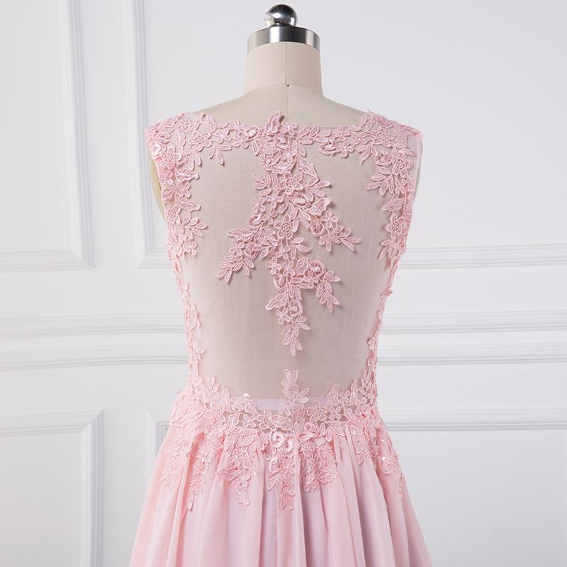 Sexy se gjennom Lace Appliques Evening Dresses 2018 pluss vestido de - Spesielle anledninger kjoler - Bilde 6