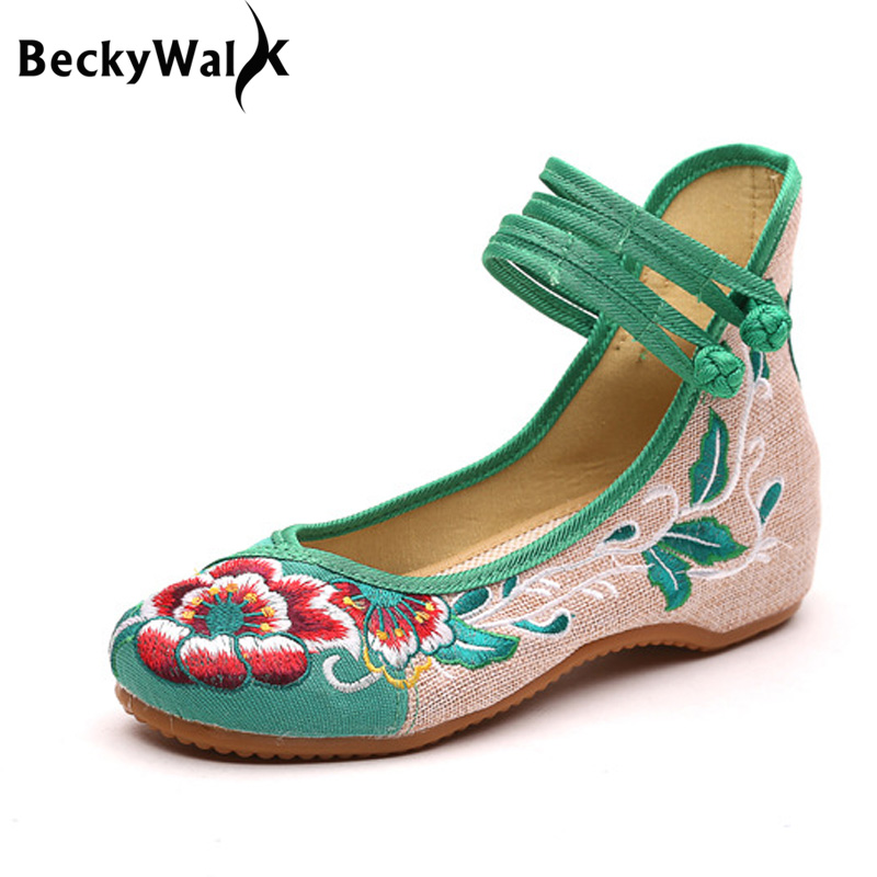 Fashion Embroidery Women Shoes Chinese Style Cloth High Top Casual Flat Shoes Woman Floral Dance Shoes Plus Size EU35-43 WSH2288 кеды element element el003amtij56