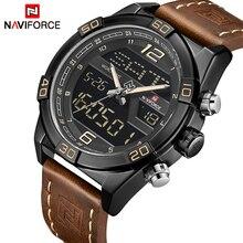 NAVIFORCE Top luksusowej marki sportowe zegarki mężczyźni moda Casual cyfrowy kwarcowy na rękę męski zegarek wojskowy Relogio Masculino