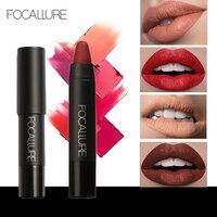 FOCALLURE 19 Kolory Pomadka Matte Lipsticker Wodoodporna długotrwała Łatwe do Noszenia Kosmetyki Nago Makijaż Usta