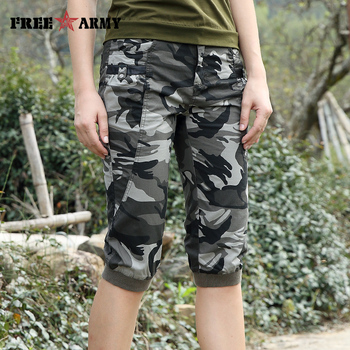Freearmy Brand New Fashion Summer Style Knee-Length Short Trousers Women's Military Style Camouflage Ladies Short Pants  Cotton  2