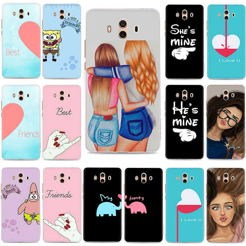 We will always be best friends BFF Hard phone case for Huawei Y6 Y7 Prime Y9 2017 2018 Mate 10 20 30 Pro Lite Nova 2i Lite 3 3i