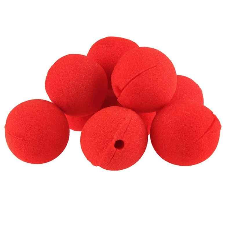 10 יח'\חבילה קסם מסיבת אדום ליצן האף ספוג כדור מסכות ליל כל הקדושים ילדים תלבושות מפלגת מספקת ליצנים לשחק אבזרי