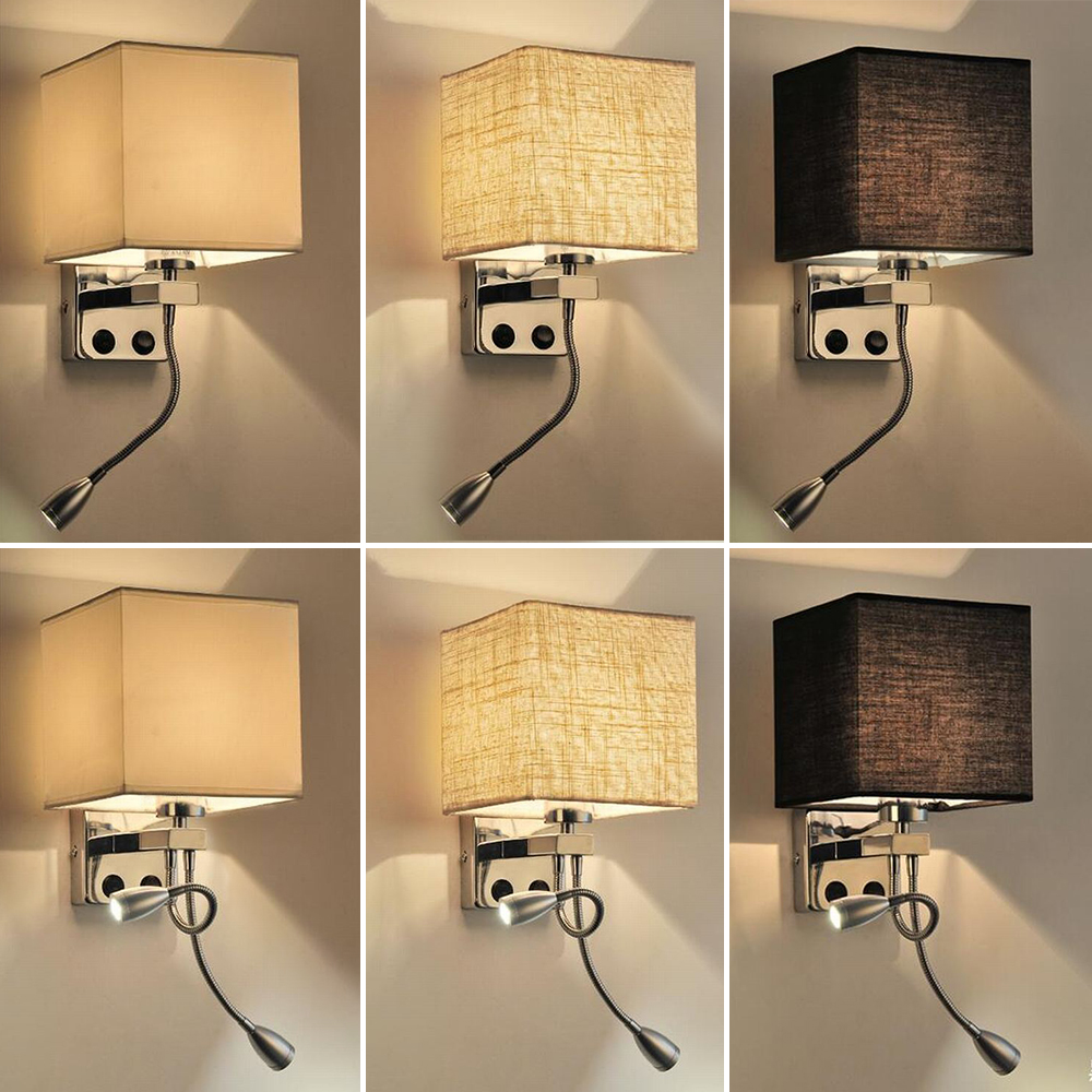 Wall Lamp Sconce Switch Stairs Light Luminaires Fixture E27 Bulb Bedroom Decor Bathroom Modern Bedside Lighting Wall Mounted (6)