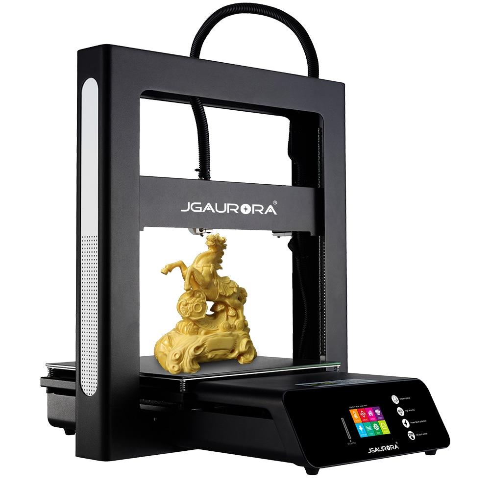 Jgaurora a5s fdm desktop impressora 3d montagem fácil placa-mãe 32bit grande construir volum 305*305*320mm retomar impressão de energia fora