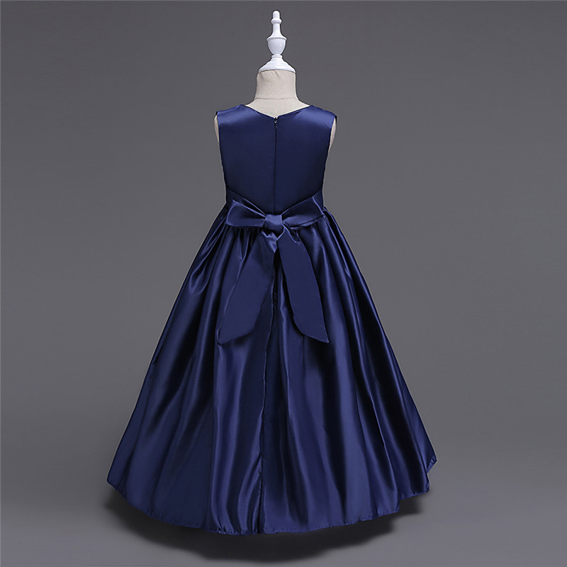Girl Long Princess Wedding Bubble Vest Dresses Flower Girl Dresses