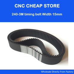 5pcs HTD 3M Timing Rubber belt 3M 15 teeth-80 width-15mm length 240mm HTD240-3M-15 for Co2 CNC Laser Engraver Cutter Instrument