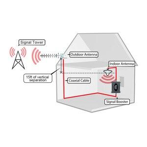 Image 5 - Lintratek 4G LTE משחזר 2600 MHz LCD תצוגת אות סלולארי מיני גודל FDD 2600 4G נייד אות מגבר אנטנת סט @